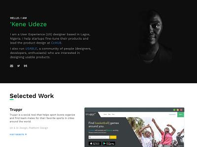 Personal Website personal website portfolio ui design