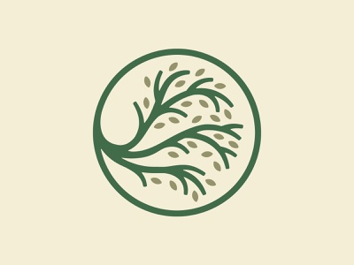 All The Trees Of The Field Will Clap Their Hands badge seal leaves nature season branch tree liturgy christian church branding church alaska typography brand logo