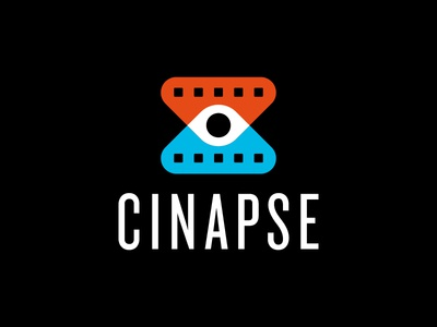Cinapse Brand Proposal watch theater film strip cinephile criticism eye logo film movies brand