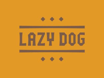 Dog Gone logo block chunk piña colada woodtype hawaiian tiki bar type tiki tuscan dog
