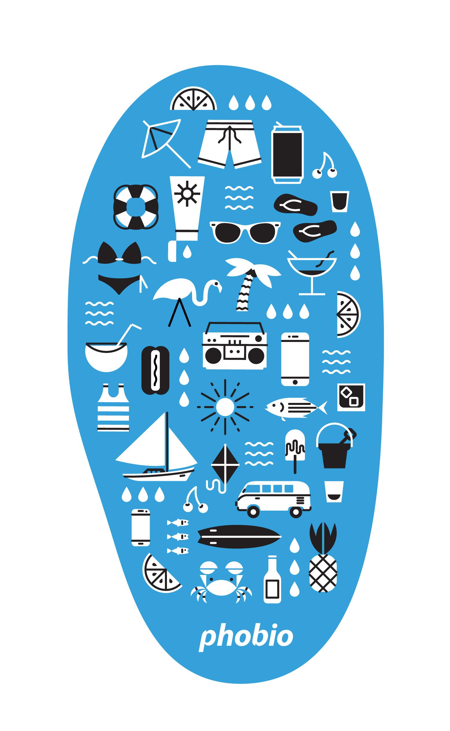 Phobio beachtowel print 03