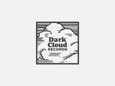 Sad Bastard Music Logo square indie sad music record label woodcut cloud records music logo