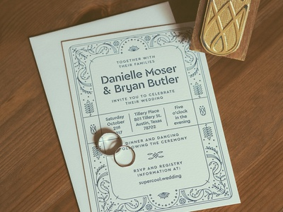 Come & Marry It tequila agave floral border fancy letterpress paper flowers invitation invite wedding marriage