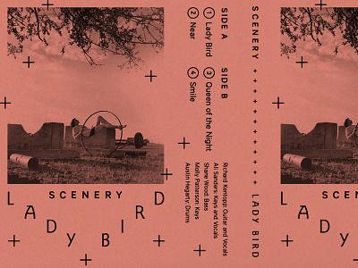 Scenery Lady Bird hula hoop bird typography nostalgia photography pop music cassette band music album art