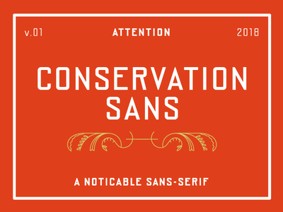 Conservation Sans typeface font government logotype display headline narrow geometric signage sans serif