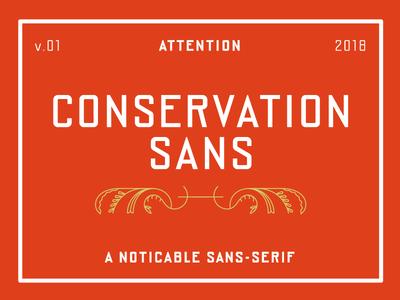 Conservation Sans typeface font government logotype display headline narrow geometric signage sans serif