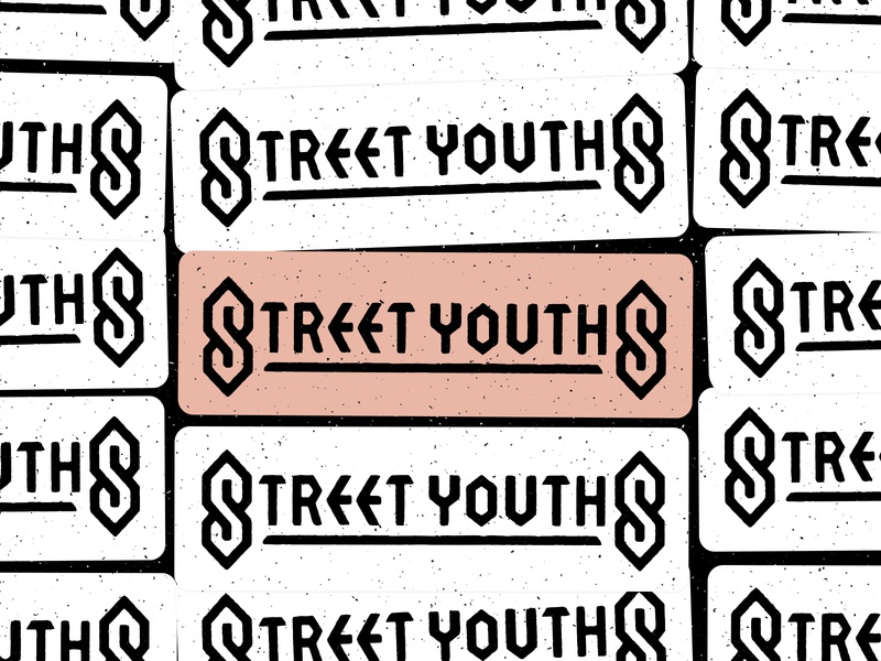 Sticky Street YouthS design so super cool super cool cool design im from the streets street superman s typography type s band stussy s 90s s cool s music sticker logo