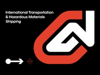 GNG International LTD identity brand logo design logo shipping transportation international