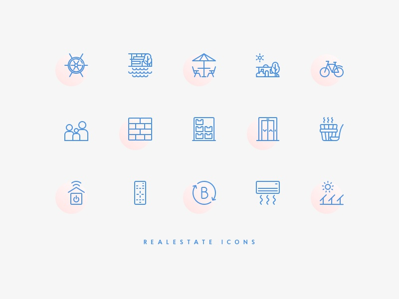 Real estate icons by Jaana for OKIA
