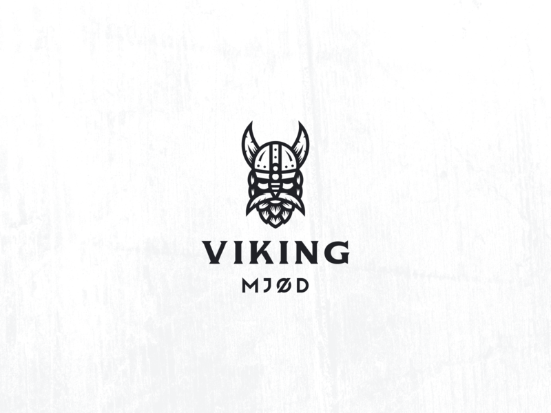 Viking Honey Beer Logo brewing brewery masculine smart hoppy geometric modern vintage branding line art hops mead honey bee honey negative space beer branding beer viking logo viking logo design logo