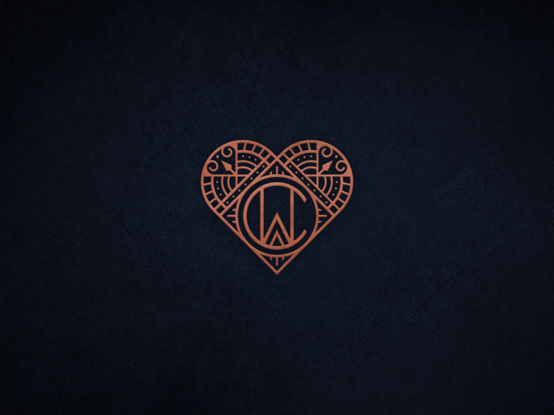 CW Monogram and Heart