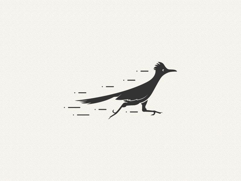 Roadrunner Logo  simple roadrunner bird bird roadrunner logo design logo