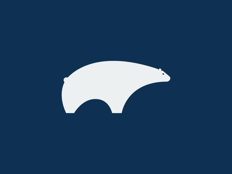 Polar Bear Logo simple animal polar bear branding bear minimalist geometric logo design logo