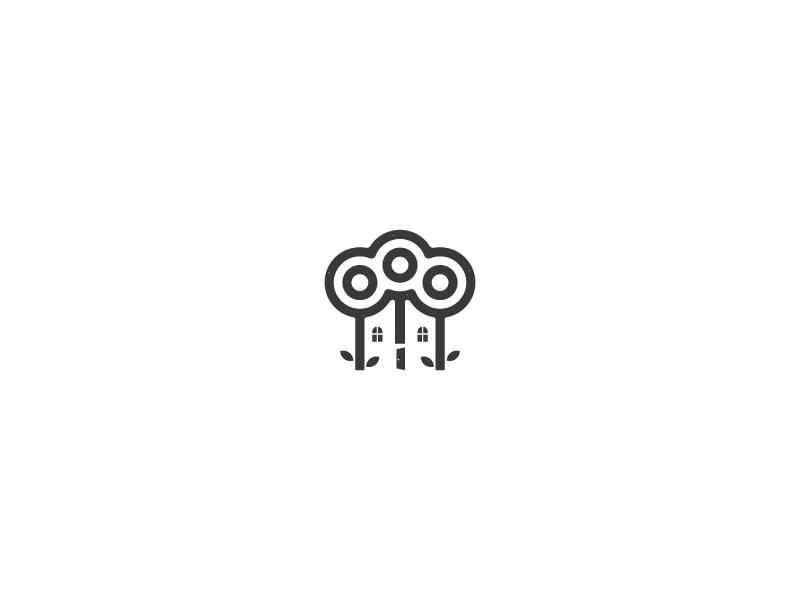 Senior Home Care Logo minimalist simple health care home senior negative space abstract logo design logo