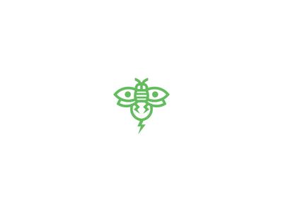 808 Genetics Logo bolt hawaii cannabis cannabis logo bee marijuana line art minimal clean minimalist branding simple geometric logo design logo