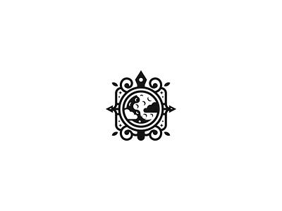 Rivka Publishing Logo black and white modern vintage space book inkpen portal planet imaginary fantasy publishing house publishing negative space clean branding geometric logo design logo