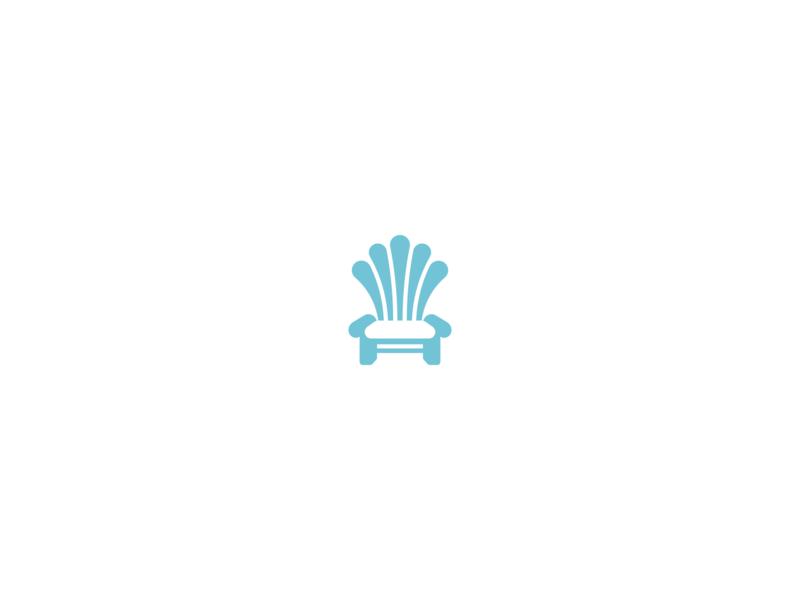 Coastal Furniture Logo coastal sea seashell chair furniture modern vintage minimal clean minimalist negative space geometric logo design logo