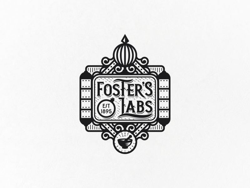 Logo for traditional skincare brand steampunk apotecary labaratory modern vintage vintage skincare branding geometric logo design logo