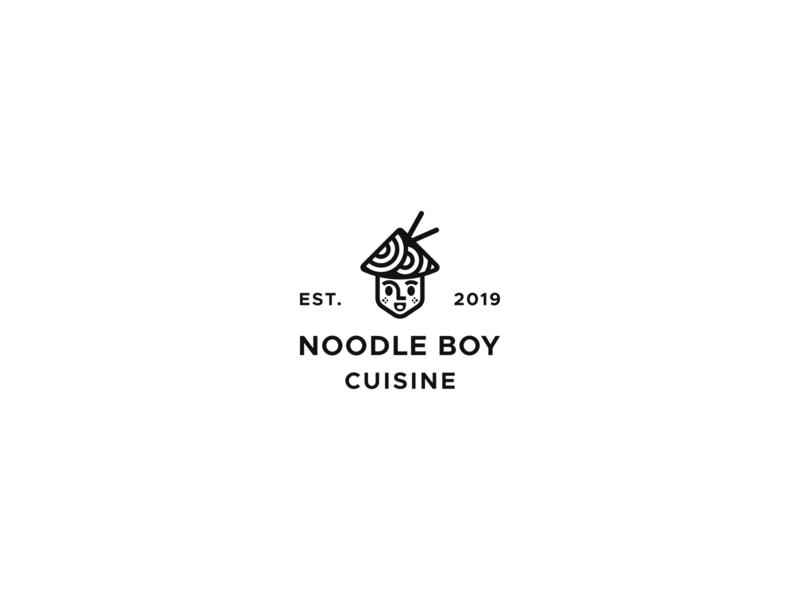 Noodle Boy Cuisine noodles noodle cuisine playful clean food asian food asian simple logo restaraunt vietnamese minimal modern vintage line art minimalist simple branding geometric logo design logo