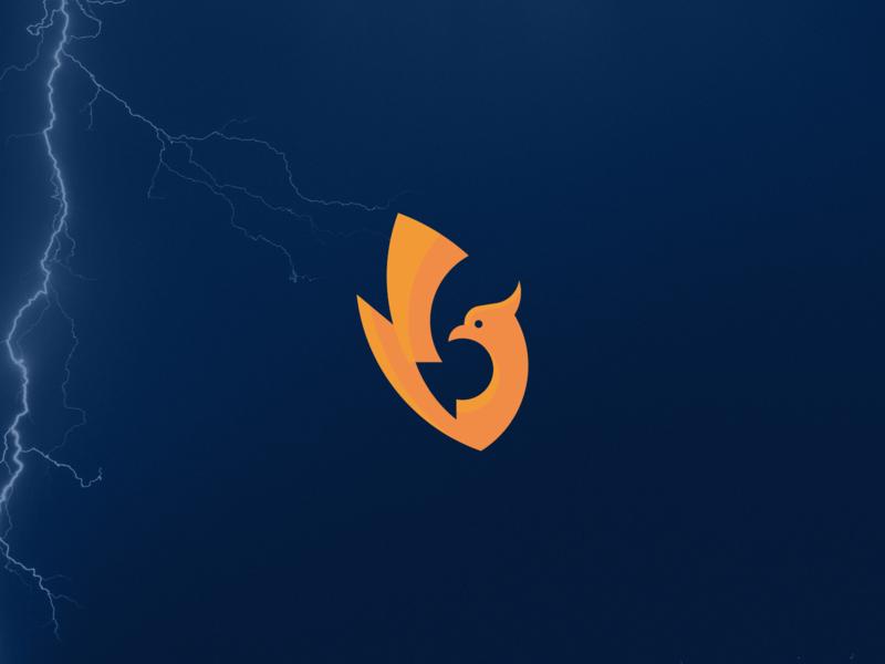 Thunderbird Logo media modern bird thunderbird thunderbolt thunder phoenix clean simple branding geometric logo design logo