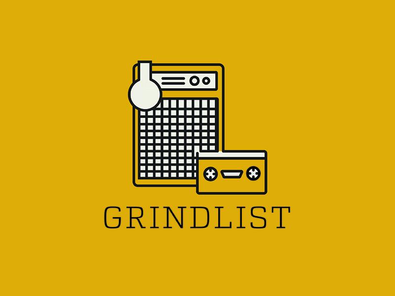 Grindlist shaper tool cassette speakers music illustration basement pixels