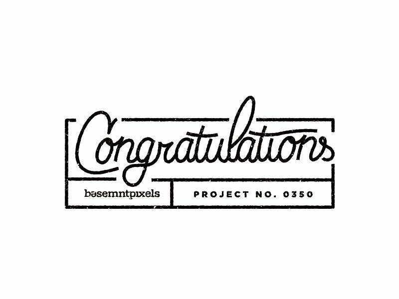 Congratulations typography
