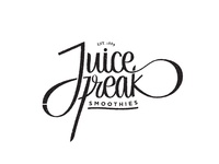 Juice freak smoothies v.2 lettering typography
