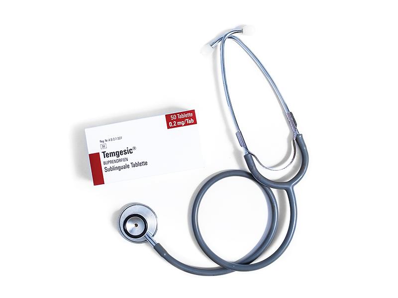 Temgesic Photography pack shot pharmaceutical photography