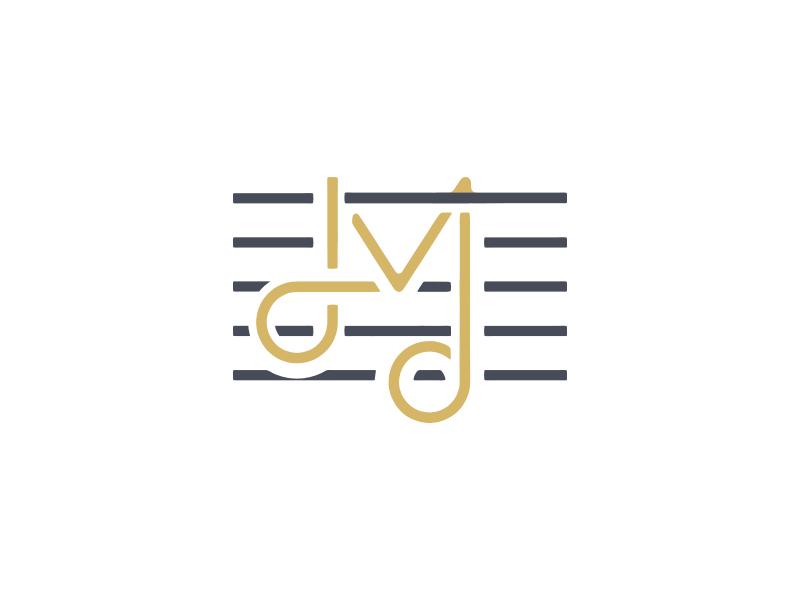 LM logo design branding identity music composer