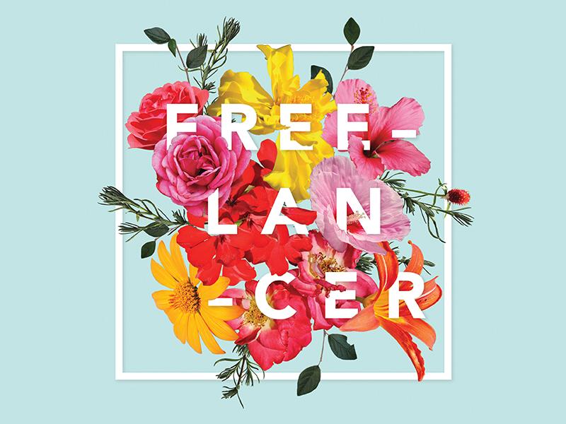 Freelancer Promo Piece flowers illustration typography advertising marketing promo self promotion graphic design freelancer freelance