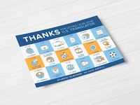 Atlantic Television Thank You Postcard