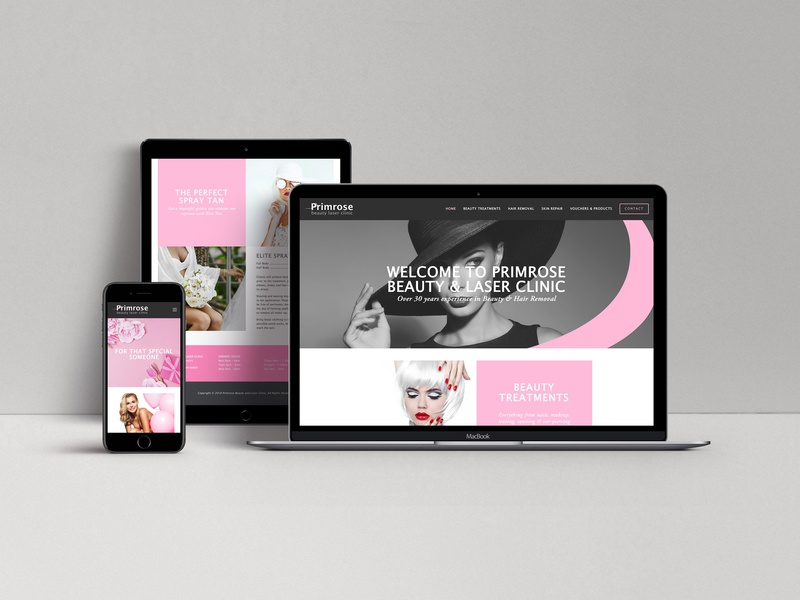 Primrose Website Design cosmetics women aesthetic clinic salon beauty online responcive layout image editing concept design creative direction branding website design web design