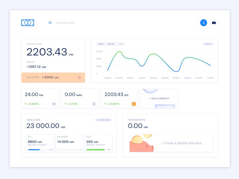 Bank Dashboard ux ui app web interface statistics desktop dashboard