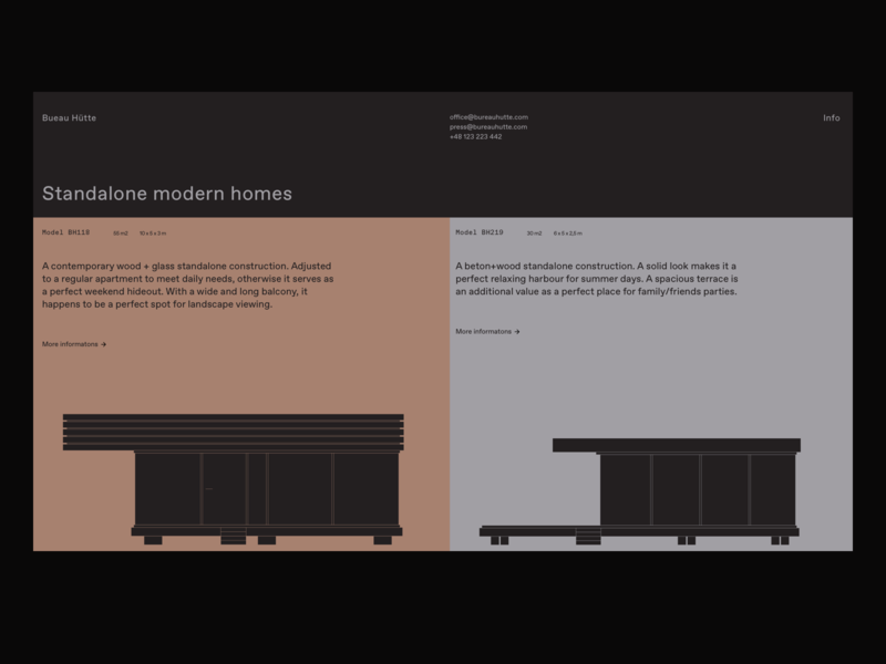 Bueau Hütte buiding home cabin architecture illustration cover app desktop brutalism