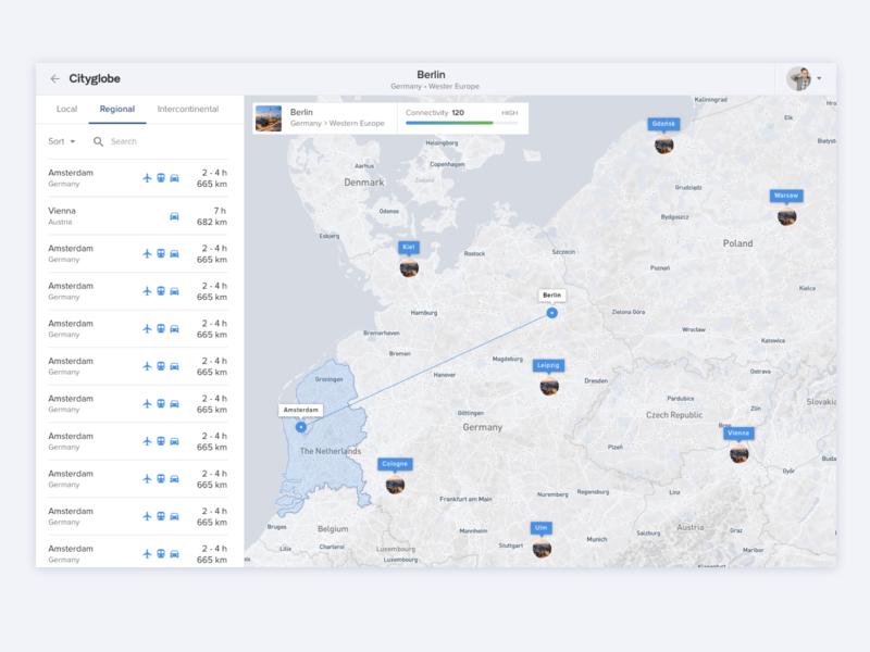 Cityglobe – Connections ui web desktop maps map ui city connect traffic