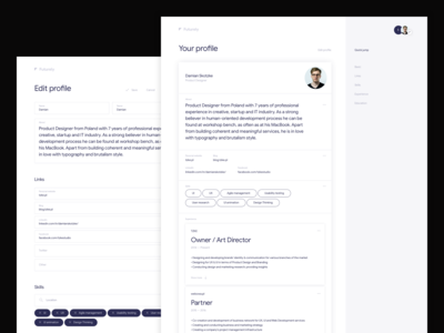 Futurely – Your profile / Edit profile