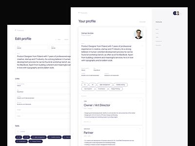Futurely – Your profile / Edit profile minimalism website form ui web desktop app minimal hr job offer system ux inspiration clean