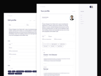 Futurely – Your profile / Edit profile