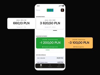 Bank App – redesign concept concept redesign flat inspiration finance bank mobile minimal app web ui website minimalism