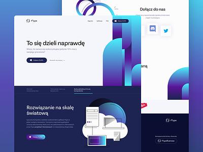 FLYPS Homepage flyps energy homepage sketch design app desktop web ui