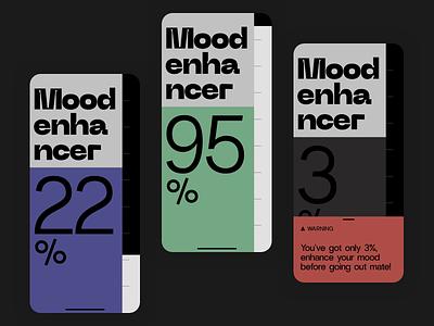 Mood enhancer ux  ui ux ui product minimal ios slider mobile app