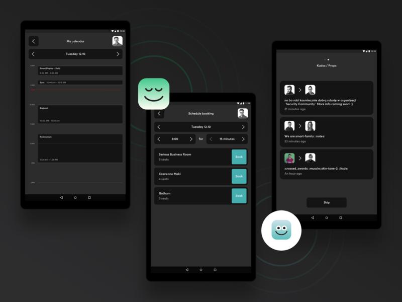 Smart Display: Source of knowledge tablet machine learning dark mode dark ui android minimal ux app web ui