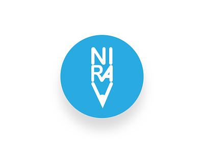 niravsuthar.com logo design design consultancy blue creative vector branding logo
