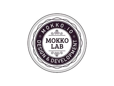 Mokko Lab Badge mokko circle design vector symbol print design logo badge