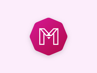 Mokko Logo 2.0 m polygon blackwhite vector branding logo mokko