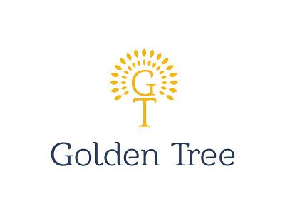 Golden Tree Hotel Logo tree design consultancy golden creative vector branding logo