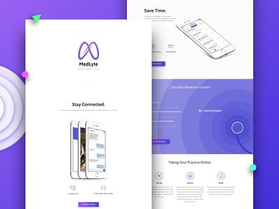 MedLyte Landing page doctor medlyte gradient flat 2017 sketch vector webdesign landing page