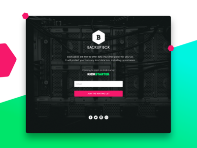 Backupbox Landing page- Teaser vector sketch ransomware privacy security 2017 website landing page