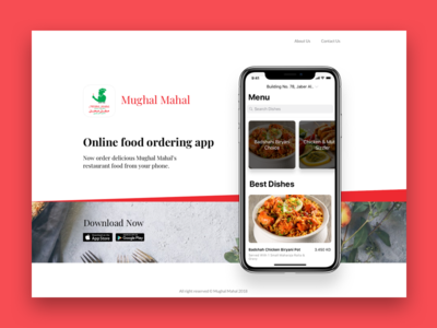 Landing page ux flatui 2018 mockup ios mobile app website landing page