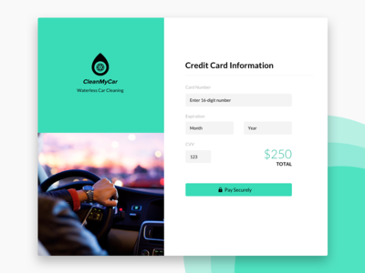 Credit card page UI